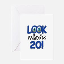 Look who's 20 Greeting Card