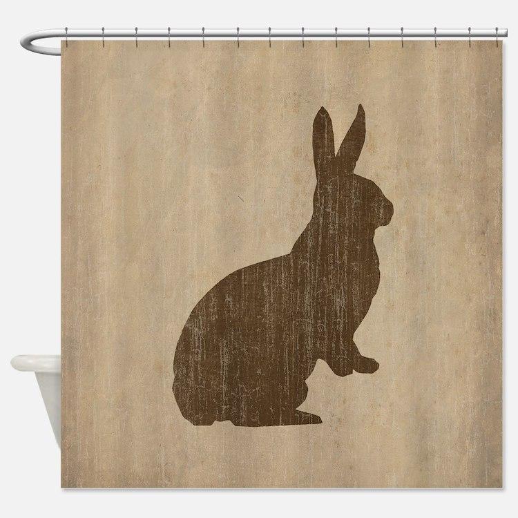 Vintage Rabbit Shower Curtain