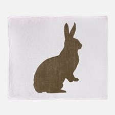 Vintage Rabbit Throw Blanket