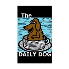 The Daily Dog Chocolate Lab Rectangle Decal