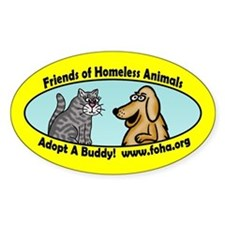 Friends of Homeless Animals Oval Decal