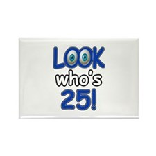 Look who's 25 Rectangle Magnet