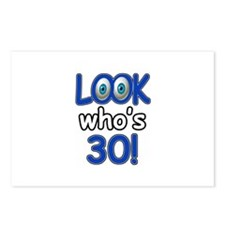 Look who's 30 Postcards (Package of 8)