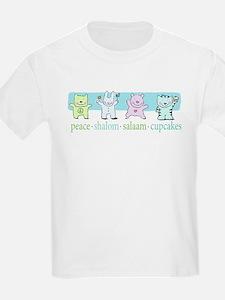 peace shalom salaam cupcakes T-Shirt