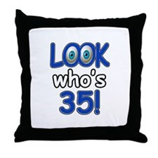 Look who's 35 Throw Pillow