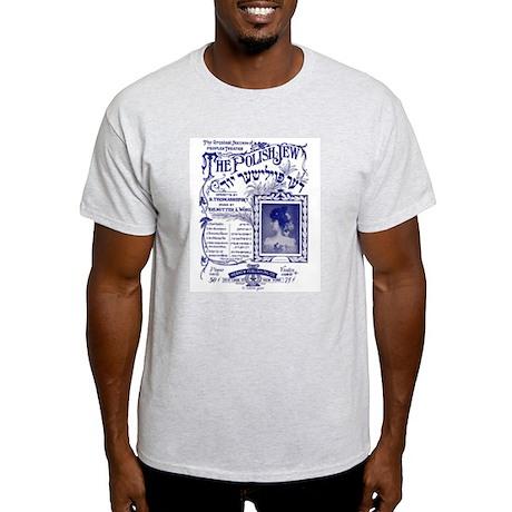 """""""Polish Jew"""" Vintage Yiddish Ash Grey T-Shirt"""
