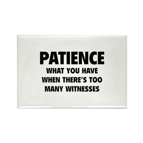Patience Rectangle Magnet (100 pack)