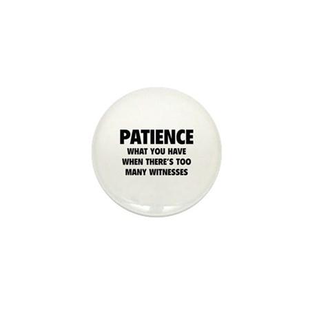 Patience Mini Button (10 pack)