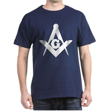 Outline Square and Compass Dark T-Shirt