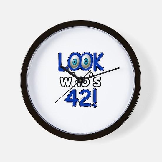 Look who's 42 Wall Clock