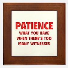 Patience Framed Tile