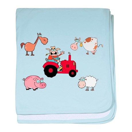 Farm baby blanket