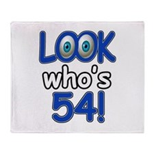 Look who's 54 Throw Blanket