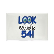 Look who's 54 Rectangle Magnet (100 pack)