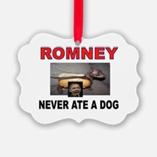 OBAMA LOVES DOGS Ornament