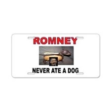 OBAMA LOVES DOGS Aluminum License Plate