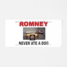 OBAMA LOVES DOGS Aluminum License Plate