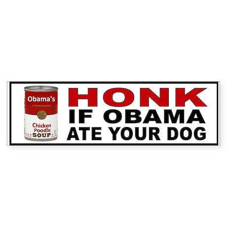 OBAMA LOVES DOGS Sticker (Bumper)