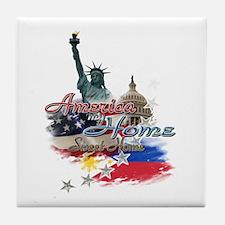 USA - Philippines: Tile Coaster