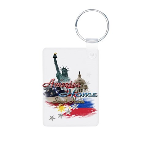 USA - Philippines: Aluminum Photo Keychain