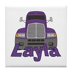 Trucker Layla Tile Coaster