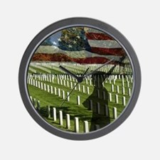 Guard at Arlington National Cemetery Wall Clock
