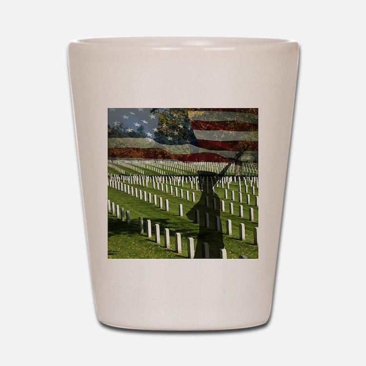 Guard at Arlington National Cemetery Shot Glass
