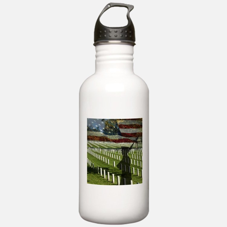 Guard at Arlington National Cemetery Water Bottle