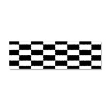 Checkered Flag Car Magnet Car Magnet 10 x 3