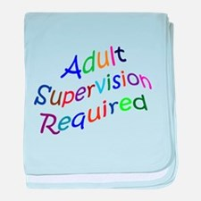 Adult Supervision baby blanket