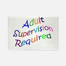 Adult Supervision Rectangle Magnet
