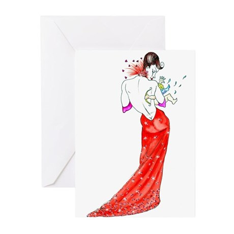 Valentine Glamour Greeting Cards (Pk of 10)