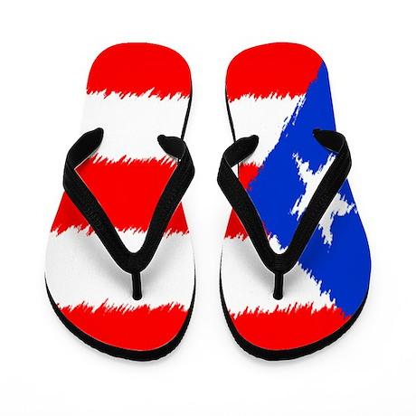 Puerto Rican Flag Flip Flops Flip Flops