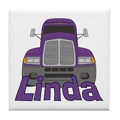 Trucker Linda Tile Coaster