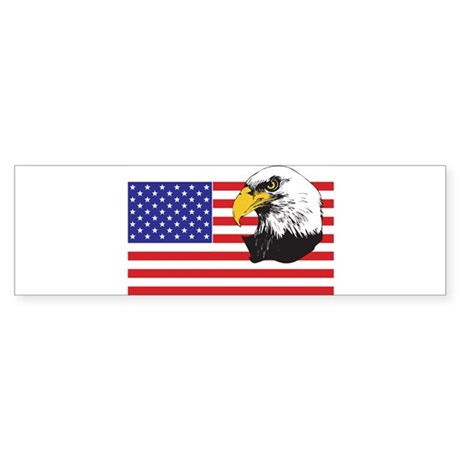 American Flag & Eagle Sticker (Bumper)