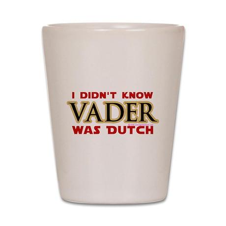 Vader was Dutch - Saber Yellow Shot Glass