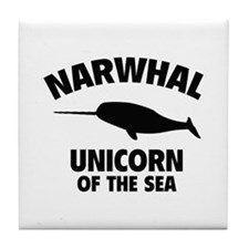 Narwhale Unicorn of the Sea Tile Coaster