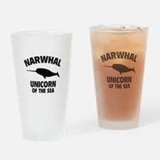 Narwhale Unicorn of the Sea Drinking Glass