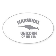 Narwhale Unicorn of the Sea Decal