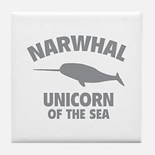 Narwhale Unicorn of the Sea Tile Coaster