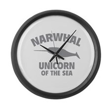 Narwhale Unicorn of the Sea Large Wall Clock