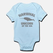Narwhale Unicorn of the Sea Infant Bodysuit