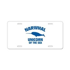 Narwhale Unicorn of the Sea Aluminum License Plate