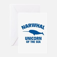 Narwhale Unicorn of the Sea Greeting Card