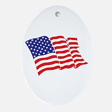 American Flag/USA Ornament (Oval)