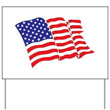 American Flag/USA Yard Sign
