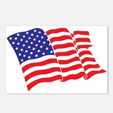 American Flag/USA Postcards (Package of 8)