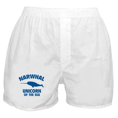 Narwhale Unicorn of the Sea Boxer Shorts