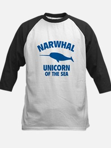 Narwhale Unicorn of the Sea Kids Baseball Jersey