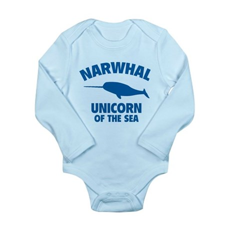 Narwhale Unicorn of the Sea Long Sleeve Infant Bod